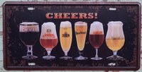 Wholesale 15x30cm Cocktail Beer Wine Metal Tin Sign Decor Pub Bar Shop Cafe Poster Arts CP637