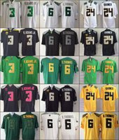 adams black - Oregon Ducks Jersey Football Ncaa College Vernon Adams Jr Darron Thomas Kenjon Barner White Green Yellow Black