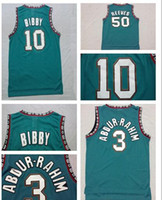 best shirt free shipping - Vancouver Mike Bibby Bryant Reeves Shareef Double Stitched Mesh Vintage Jersey Shirts Best Quality