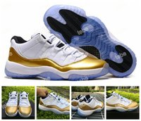 Unisex sporting goods products - 2016 New Products Air Retro XI Low Bond Edition Olympic Games Sneakers Men And Women Good Quality Metallic Gold Sports Basketball Shoes