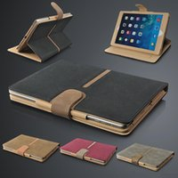 apple suede - ipad Rotating Case Magnetic Buckle Faux Suede Leather Wallet Smart Flip Stand Case Cover for iPad Air Mini with Sleep Wake