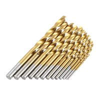 Wholesale 13pcs set High Quality Mini Twist Drill Bit HSS Plating Titanium Saw Set Metric System Woodworking Metal Platic Drilling Tools