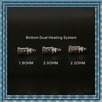 atomizing systems - Hot sale E cigs Coils Atomizing core bottom dual heating system For H2S PTS01 GS Vcore III Atomizer durable high quality Seiko DHL free