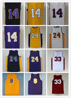 basketball player names - 2016 New Draft Player Men s Basketball Jerseys LA Embroidery Yellow Purple White Black Jerseys Stitched Name and Number