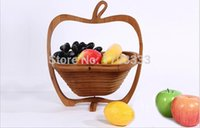 Wholesale Novelty item folding fruit bamboo basket home storage YWV