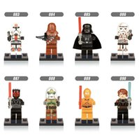 Wholesale 32pcs Star Wars Minifigure Styles Action Figures Building Blocks Sets Minifigure Model DIY Bricks Children s educational toys