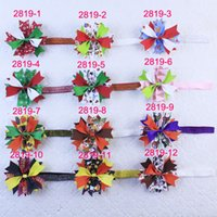 baby christmas presents - 50pcs New Christmas Colorful inch baby girl holiday present Hair Bows Clip With Headbands K3 Y