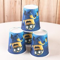 Wholesale Child s birthday party paper cups disposable cups Drinkware Frozen car Minions Spiderman Children Mickey Minnie