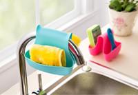 Wholesale Kitchen sink sink sponge containing hanging bags saddle dual use debris Drainage basket racks