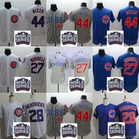 Wholesale 2016 World Series Bound Men s Chicago Cubs Addison Russell Kyle Hendricks Anthony Rizz Flexbase Baseball Jerseys Free Shi
