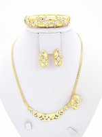 ancient african jewelry - UPWARD Ancient Big Classic African Gold Gorgeous Necklace Flat Special Women Fashion Vintage Jewelry Set