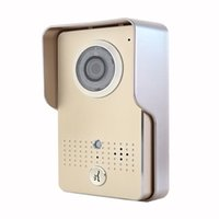 Wholesale Smart Home WI FI G G Doorbell Video Door Phone IP WI FI Camera for IOS Android Smart Phones IR Night Vision Golden F1269J