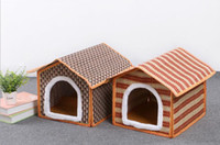 Wholesale Mat kennel pet products Spring and summer pet house Solid bamboo comfortable nest HK80
