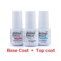 Wholesale Base Top Coat Nail Art Soak Off UV LED Gel Nail Polish Gelish ml Foundation base coat Top it Off top coat