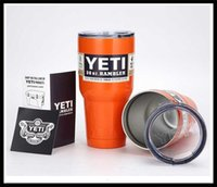 Wholesale 30 oz Yeti Coolers Rambler oz Cups mixed colors assorte colors Powder Coated Stainless Steel Tumbler Dark Purple Gold Blue dhl free