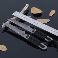 Wholesale 1pcs Outdoor camping knife Colombia small straight knife Gift Utility survival knives EDC karambit knife