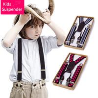 Wholesale Children Belts Accessories PU Elastic Suspender Little kids Fashion Multicolor Stretch Strap Children day gift