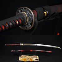 battle ready katanas - Handmade Japanese Samurai Katana Sword High Carbon Steel Full tang Blade Sharp Custom Real Espadas Katanas Battle Ready
