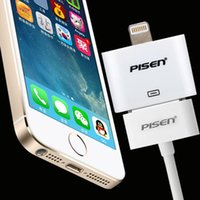 Wholesale PISEN for iphone6 data line adapter charger S switch iphone5 s converter