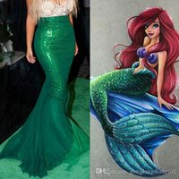 adult mermaid skirt - Sexy Mermaid Ladies Halloween Costume Fancy Party Sequins Maxi Dress Tail Skirt