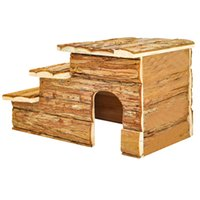 Wholesale Forest Log Cabin for Hamsters Activity Playground