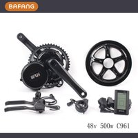 Wholesale 48v w fun bafang C961 motor BBS02 crank Motor eletric bicycles trike ebike kits