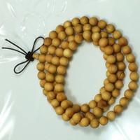Thuja sutchuenensis Cèdre naturel bouddhiste prière perles Bracelet en bois Bouddha Bangle Rosay collier bijoux faits à la main gros