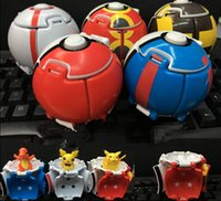 Wholesale Poke ball with poke Action Figure Deformation Touch Flip Elf Ball Pop up Elf Go Fighting Poke Ball Explosion Elf Ball with Figures KKA808