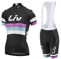 Wholesale Women liv cycling jersey Short sleeve ropa ciclismo Bike cycling clothing maillot ciclismo mtb giant bicycle Jerseys Bib Shorts