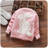 Wholesale 2016 Autumn New Arrival Korean Style Crease resistant Knitted Cardigan for children Warm woollen sweater with three solid colors for girls