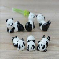 Wholesale 2016 new Cute panda chopsticks rack ceramic chopsticks holder set home tableware set