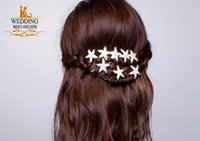 Wholesale New Fashion Pieces Wedding Bridal Bridesmaid Prom Korean Hair Accessories Silver Crystal Rhinestone Starfish Pins Comb Clips Jewelry
