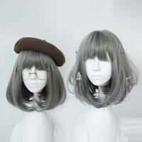 Wholesale Cosplay Lolita Wigs White - Women's Wig Short Gray Lolita Synthetic Hair Party Cosplay Fashion Anime Wigs