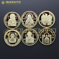 belarus coins - 10 sets Full Set Belarus Roubles Saints of Orthodox St Gold Plated Russia Coins