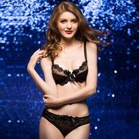 Wholesale Sexy Bra set Fashion Girl Women Lingerie gauze Transparent Women s Underwear Bras C C C C D D D