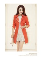 Wholesale Qiu dong with women s clothing han edition fashion lady lapel together long double breasted trench coat of cultivate one s morality
