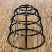 Wholesale Antique Vintage Industrial Lamp Cover Ceiling Hanging Light Fitting Metal Frame Pendant Lamp Bulb Cage Guard Bar Cafe Lamp Shade