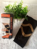 Wholesale New Copper Fit Knee Compression Sleeve Sports Braces Supports knee Large Size by DHL