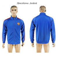 Wholesale Men Soccer Jacket Blue Tracksuit