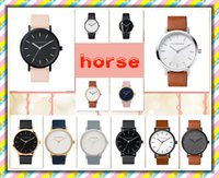 battery shopping - Color Men and Women The Horse Watch Quartz Wrist Watch Hot Style Fashion Pink Black Vine Watch Free Shopping