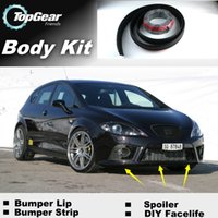 Wholesale For SEAT Leon Bumper Lip Lips Skirt Deflector Spoiler For Car Tuning The Stig Recommend Body Kit Strip