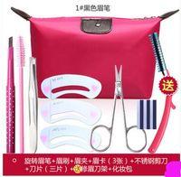 Wholesale yebrow makeup tools eyebrow pencil thrush beginners card blade tool eyebrow eyebrow scissors bag eyebrow eyebrow tweeze