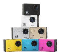 Wholesale Action camera EKEN H9 Ultra HD K WiFi P fps LCD D lens Helmet Cam underwater waterproof go pro camera SJ4000 style