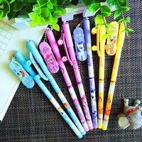 baby pen favors - 12PCS Little Pony with charm Gel Pen Kids birthday party supplies gift favors girl boy souvenirs baby shower decoration