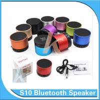 Wholesale S10 Bluetooth Speaker Outdoor Speakers Handfree Mic Stereo Portable Speakers TF Card Call Function Free DHL UPS No Logo In Retail Box