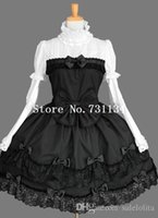 Wholesale Black Vintage Sweet Lace Gothic Lolita Ball Gowns Girls Short Party Dress Halloween Cosplay Costumes For Women