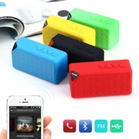 Wholesale Mini Bluetooth Speaker X3 TF USB FM Radio Wireless Portable Music Sound Box Subwoofer Loudspeakers with Mic for iOS Android