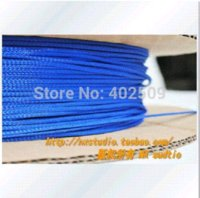Wholesale mm feet Brand new high density Blue Fire resistance RoHS pet insulation braided sleeving sleeve for ipad