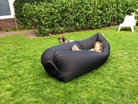 bean bag children kids - Children Outdoor Inflatable Lounger Nylon Fabric Beach Lounger Convenient Compression Air Bag Hangout Bean Bag Portable Dream Chair