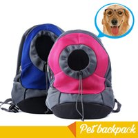 bag carrier pet - REAMIC pet travel backpack small dog and for cat outdoor both shoulder bag easy To Use rose red and blue